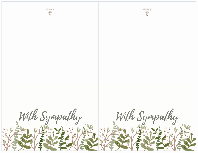 Print Out Sympathy Card Lovely A Bundle Of Joy & some Heartbreaking News with Printable