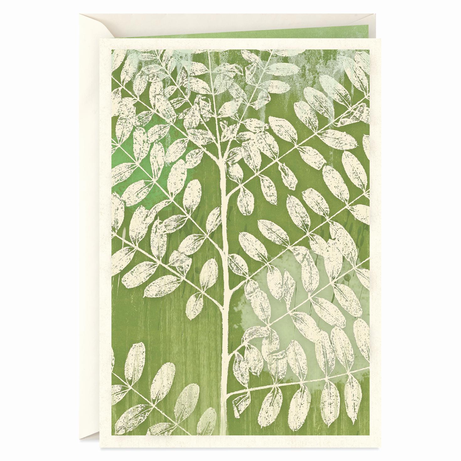 Print Out Sympathy Card Luxury Green Leaf Print Sympathy Card Greeting Cards Hallmark