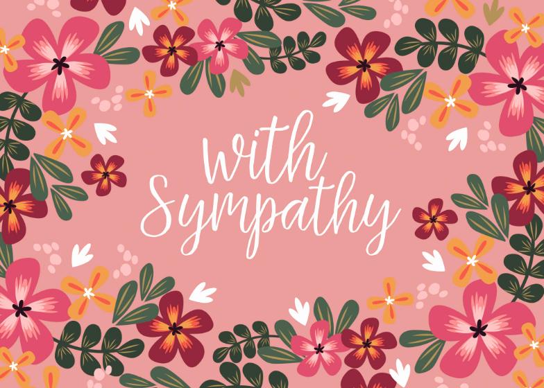 Print Out Sympathy Card Unique with Sympathy Sympathy & Condolences Card Free