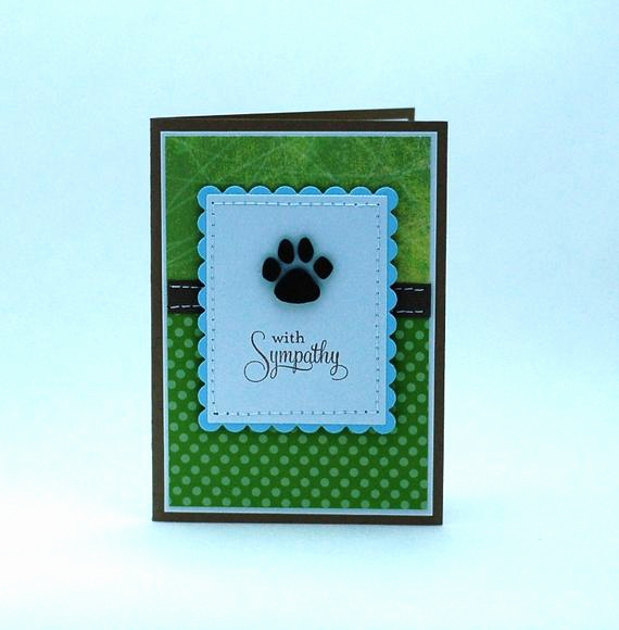 Print Out Sympathy Cards Awesome Loss Of Pet Card Dog Sympathy Card Dog Paw Print