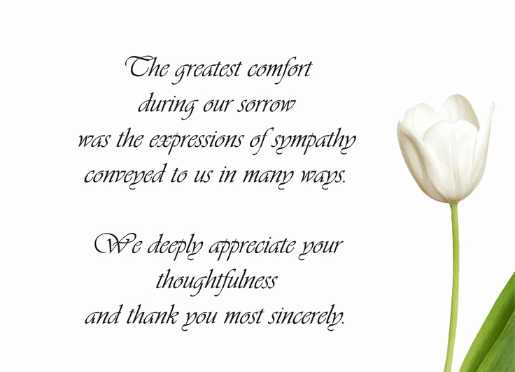 Print Out Sympathy Cards Best Of Sample Funeral Thank You Cards … Teacher