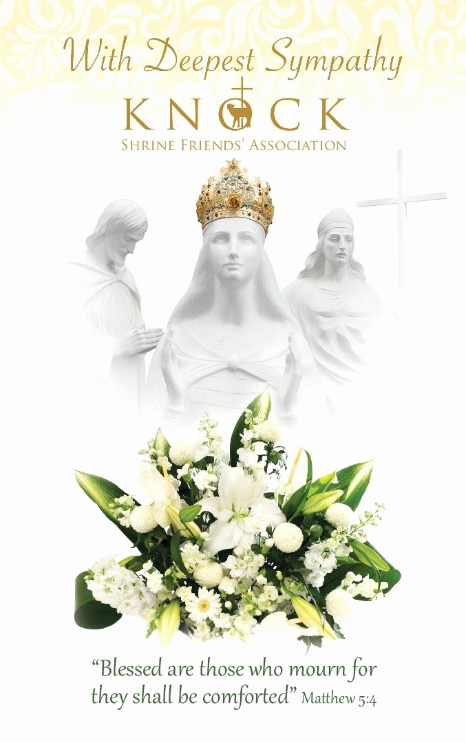 Print Out Sympathy Cards Fresh Deepest Sympathy Mass Card From Knock Shrinemarian Shrine