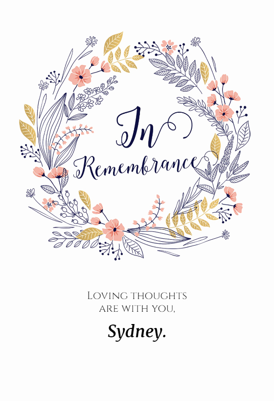 Print Out Sympathy Cards Lovely In Remembrance Sympathy & Condolences Card Free