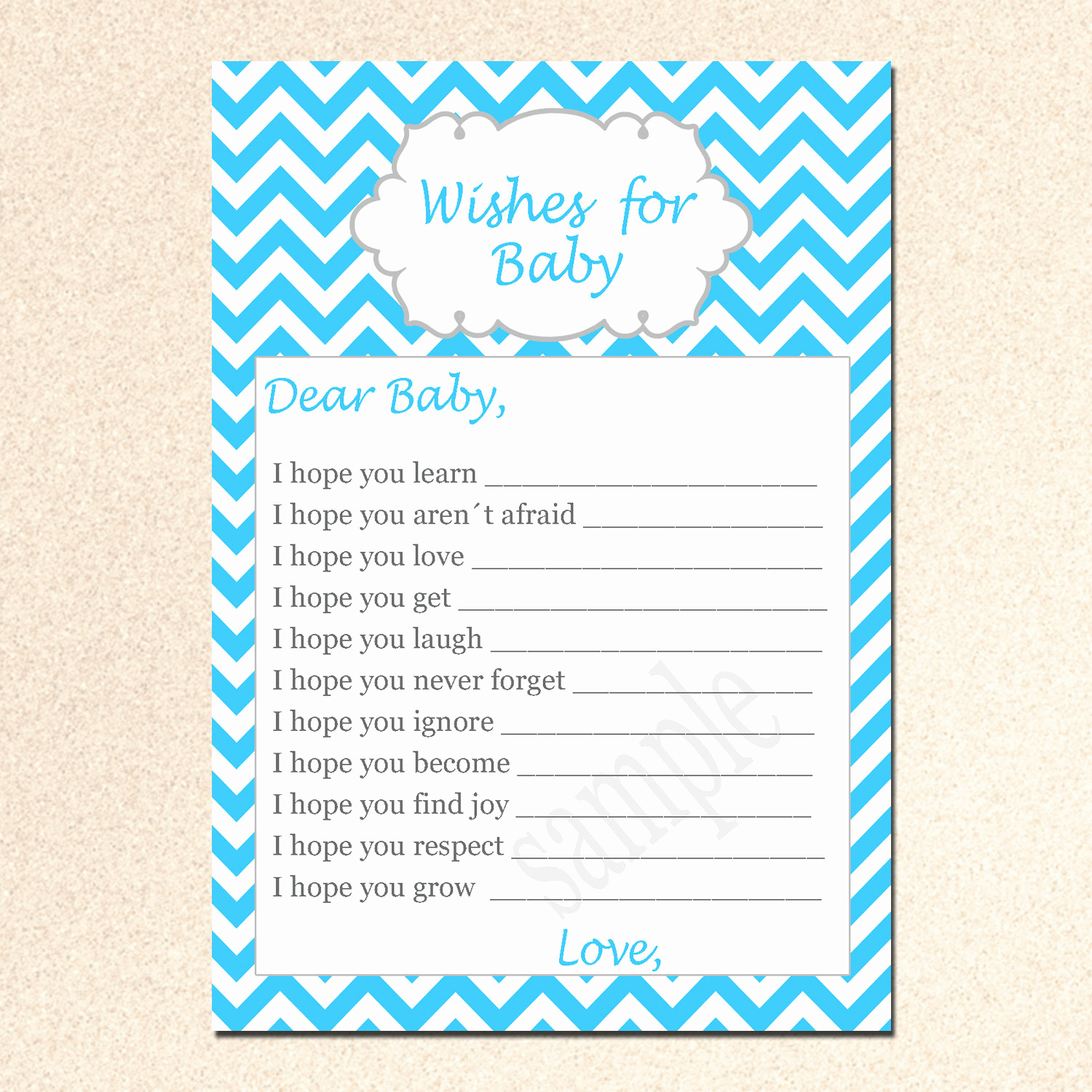 Printable Baby Shower Cards Best Of Wishes for Baby Card New Baby Messages Well Wishes Card Aqua