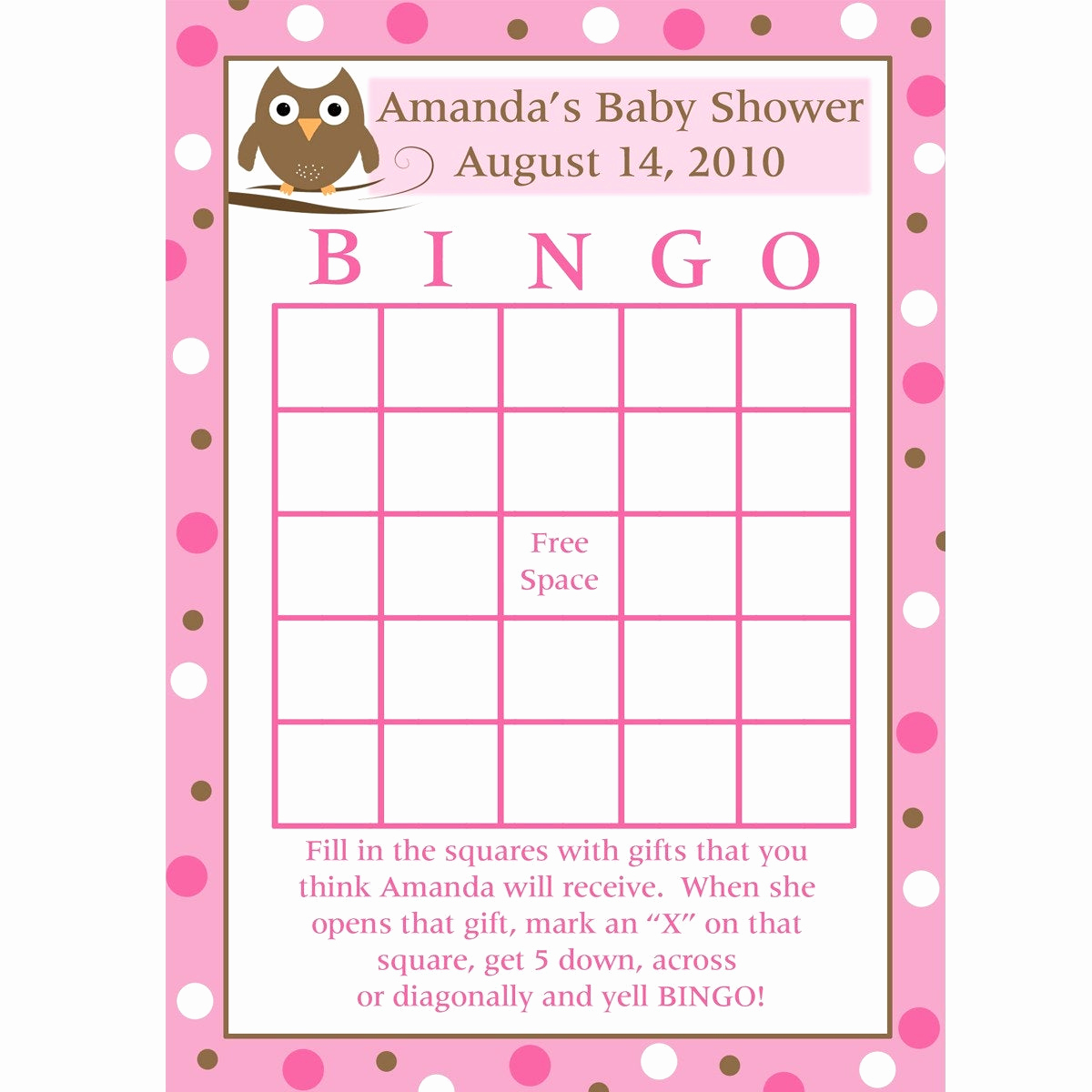 Printable Baby Shower Cards Fresh 24 Personalized Baby Shower Bingo Cards Baby Owl Design