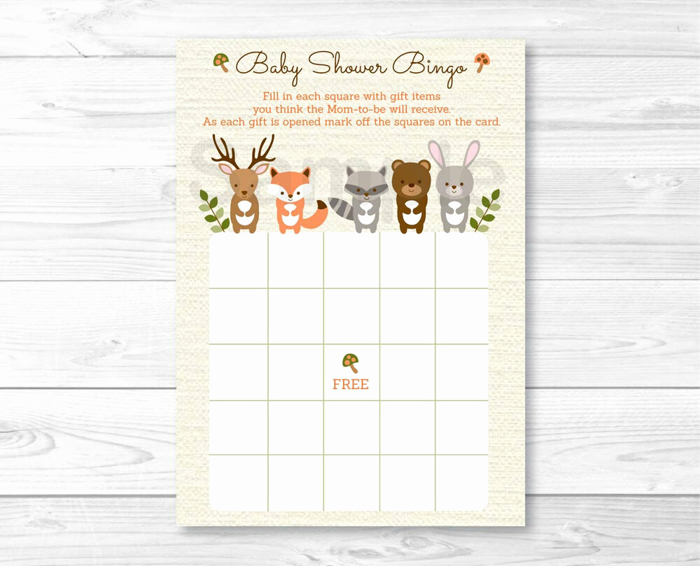 Printable Baby Shower Cards Inspirational Woodland forest Animals Gender Neutral Printable Baby