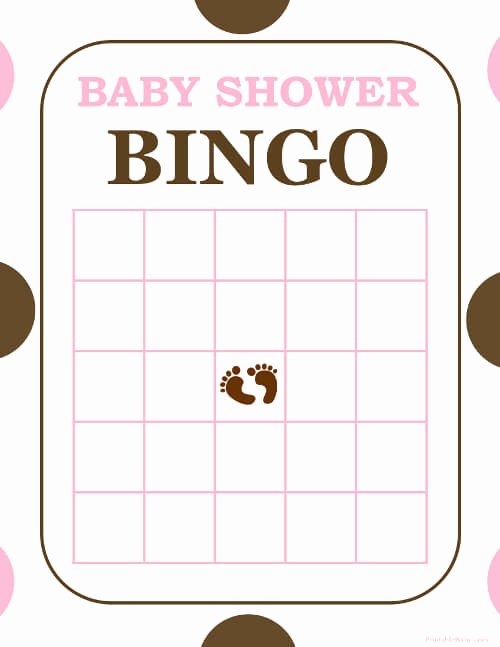 Printable Baby Shower Cards Unique Free and Printable Baby Shower Bingo Card