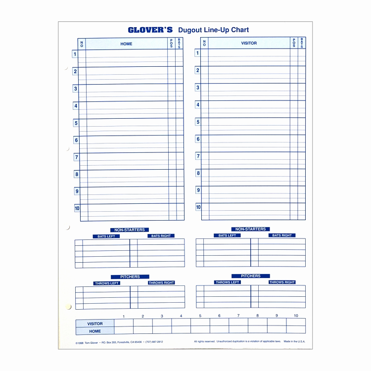 Printable Baseball Lineup Cards Luxury 28 Of Dugout Lineup Card Template