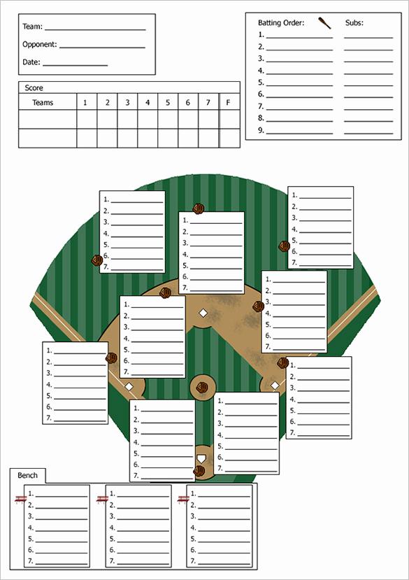 Printable Baseball Lineup Cards Unique Baseball Lineup Template