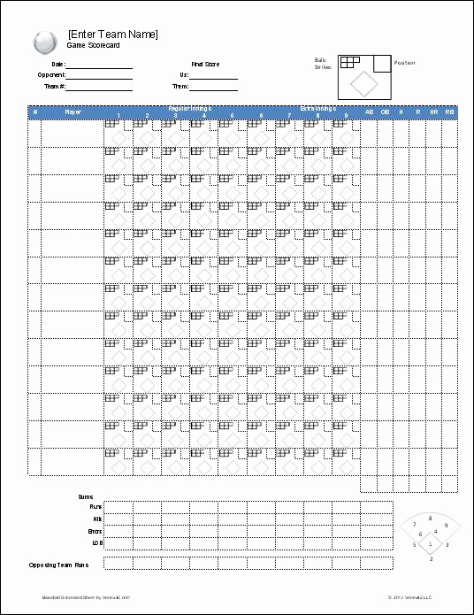 Printable Baseball Lineup Cards Unique Download A Free Baseball Roster Template for Excel