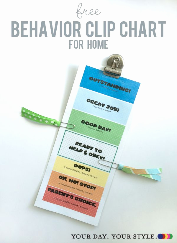 Printable Behavior Charts for Home Best Of Free Printable Behavior Clip Chart for Home to Help with