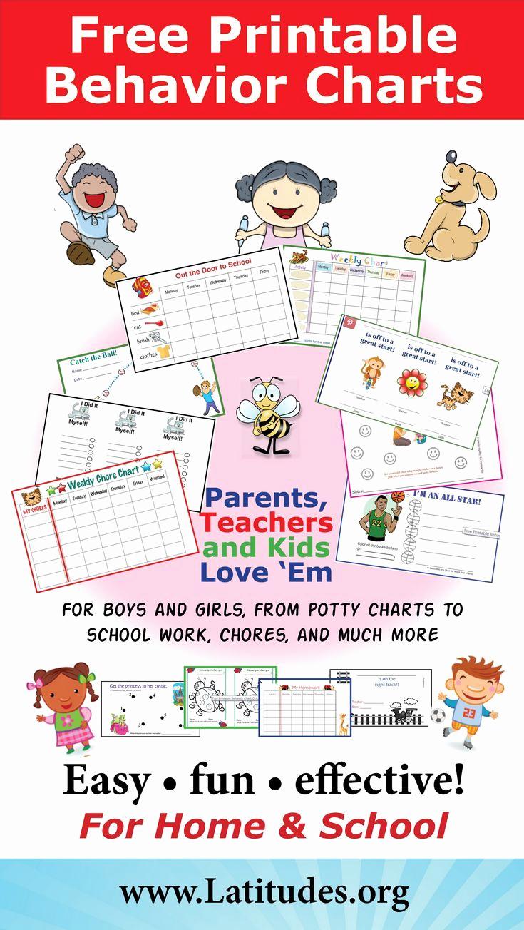Printable Behavior Charts for Home Fresh Free Printable Behavior Charts for Home and School