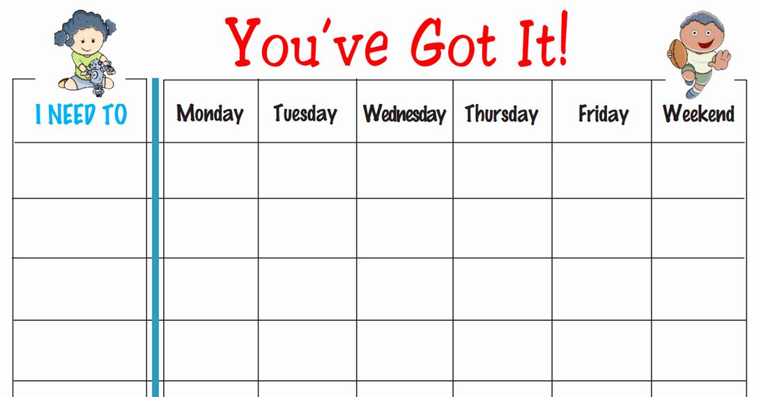 Printable Behavior Charts for Home Fresh Free Printable Weekly Behavior Chart You Ve Got It