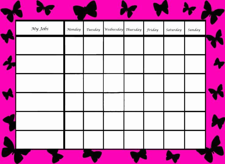 Printable Behavior Charts for Home Fresh Printable Blue Border Chore Charts