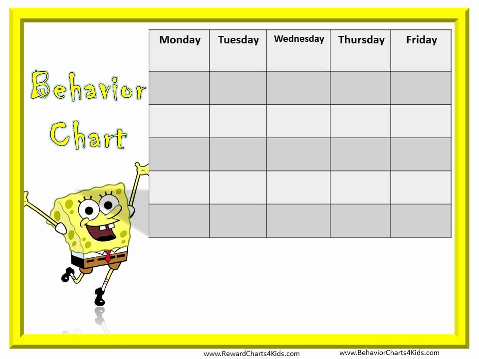 Printable Behavior Charts for Home Inspirational Behavior Chart Template