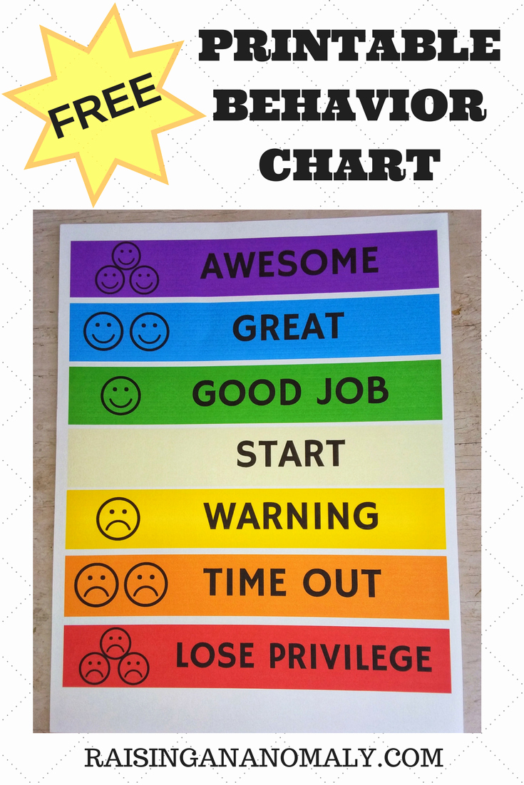 Printable Behavior Charts for Home Lovely Making Choices Easy with A Free Printable Behavior Chart