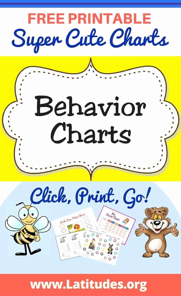 Printable Behavior Charts for Home New Free Printable Behavior Charts for Teachers & Students