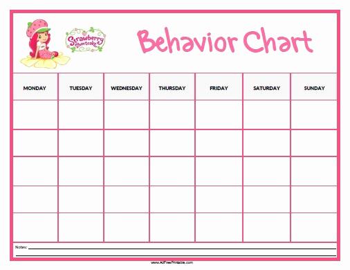 Printable Behavior Charts for Home New Strawberry Shortcake Behavior Chart Free Printable