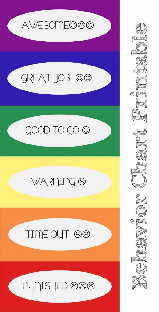 Printable Behavior Charts for Home Unique Behavior Chart Printables Helpfullyblog Behavior Chart