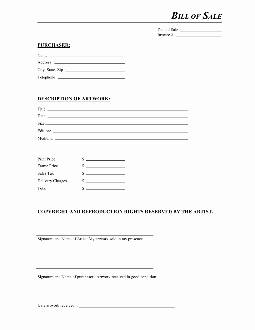 Printable Bill Of Sale form Lovely Bill Sale Sample Document Mughals