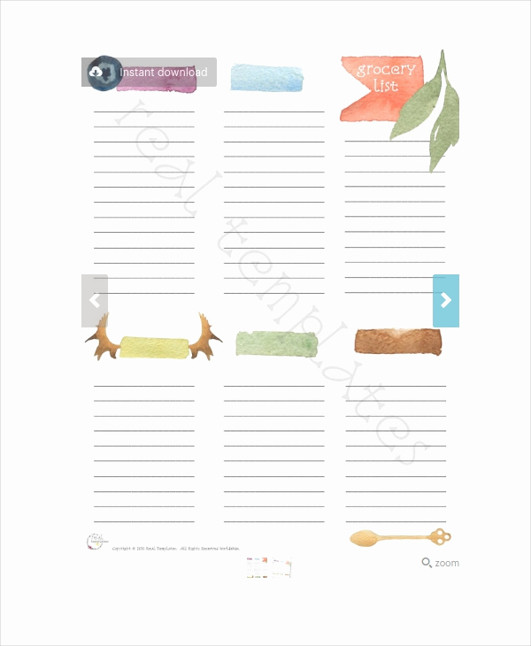 Printable Blank Grocery List Beautiful Grocery List Template 13 Free Pdf Psd Documents