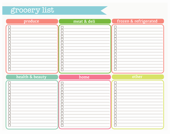 Printable Blank Grocery List Fresh Check Out these Printables I M Going to Use From the