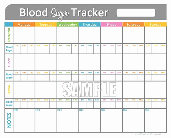 Printable Blood Glucose Chart Unique Blood Sugar Tracker Printable for Health Medical