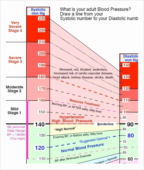 Printable Blood Pressure Chart Best Of Blood Pressure Chart Template 13 Free Excel Pdf Word