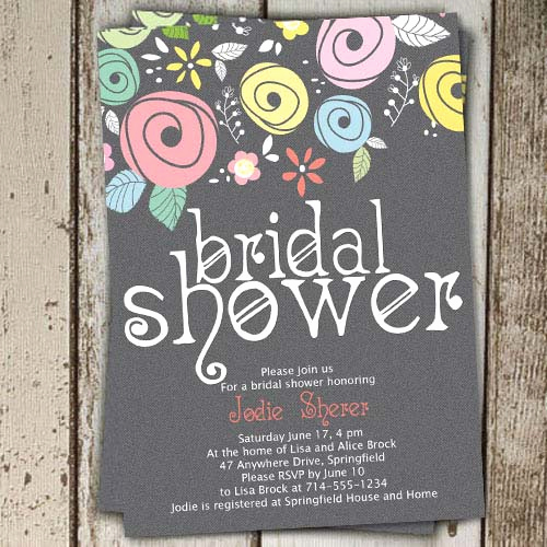 Printable Bridal Shower Invitations Awesome Printable Spring Country Floral Bridal Shower Invitations