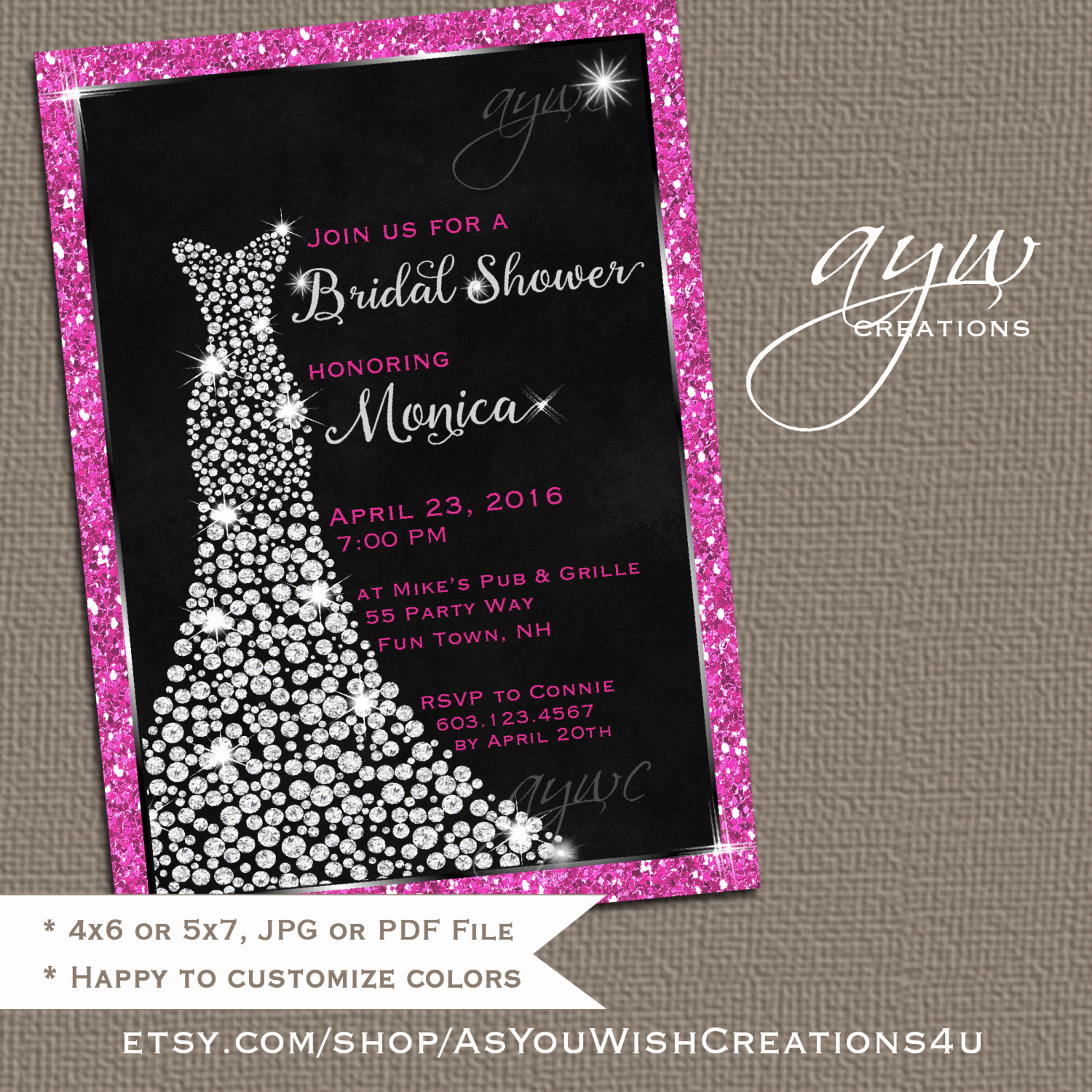 Printable Bridal Shower Invitations Awesome Wedding Dress Bridal Shower Invitation Printable Bridal Shower