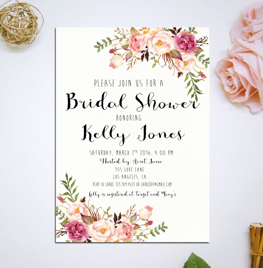 Printable Bridal Shower Invitations Awesome Wedding Invitation Printable Bridal Shower Invitation Bridal