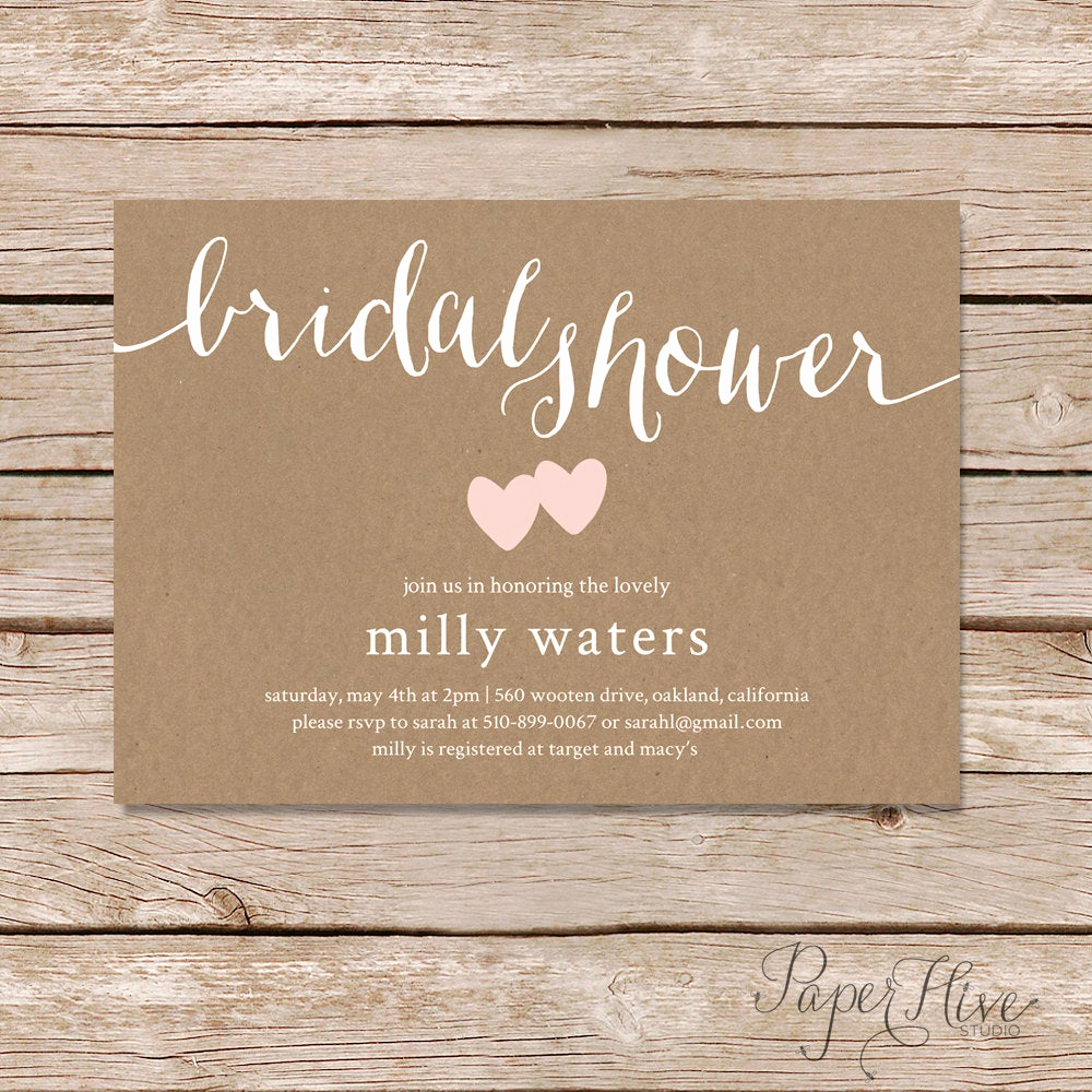 Printable Bridal Shower Invitations Best Of Rustic Bridal Shower Invitation Bridal Shower Invitation