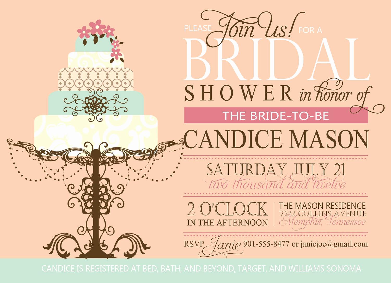 Printable Bridal Shower Invitations Lovely Bridal Shower Invitation Custom Printable Digital