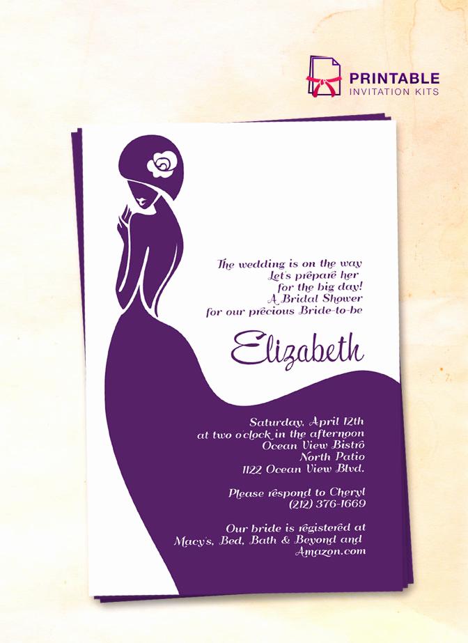 Printable Bridal Shower Invitations Lovely Bridal Shower Invitation – Lady Bride ← Wedding Invitation