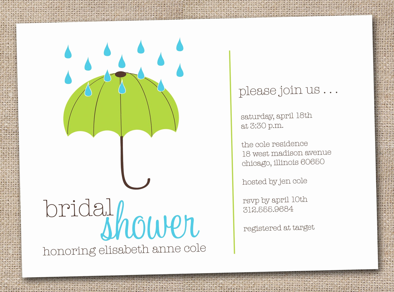 Printable Bridal Shower Invitations Lovely Printable Bridal Shower Invitations Green by