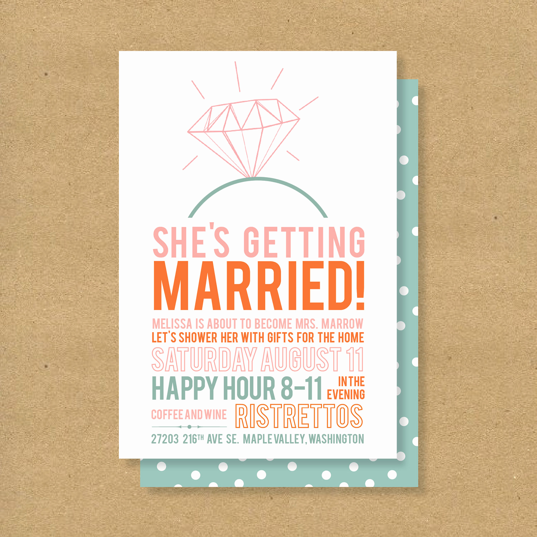 Printable Bridal Shower Invitations New Bridal Shower Invitation Printable Diamonds by Henandco On