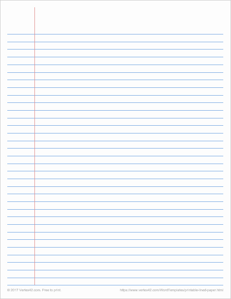 Printable College Ruled Paper Beautiful College Ruled Paper Template