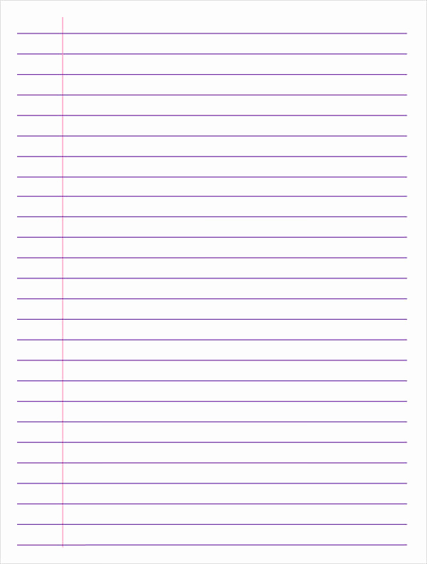Printable College Ruled Paper Fresh College Ruled Paper Template