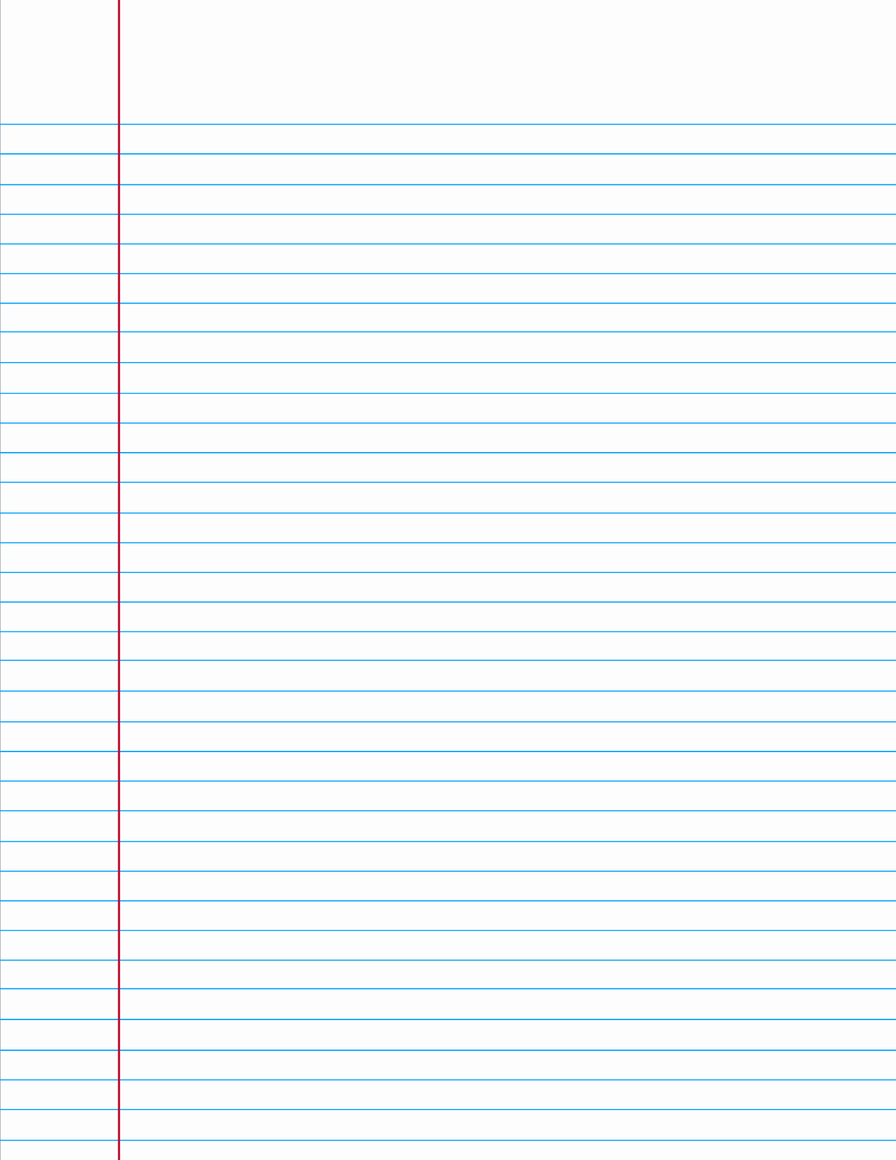 Printable College Ruled Paper Lovely College Ruled Paper when You Re In A Bind and Need A