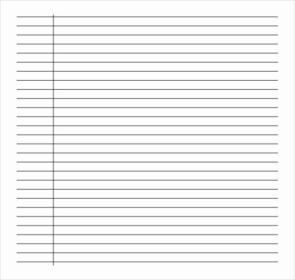 Printable College Ruled Paper Lovely Sample College Ruled Paper Template 9 Free Documents In