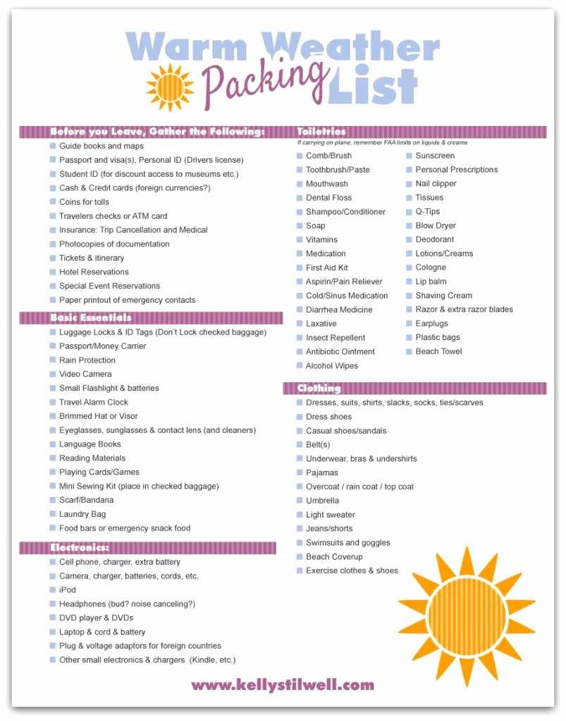 Printable Cruise Packing List Beautiful Tips for Vacation Packing & Free Printable Vacation