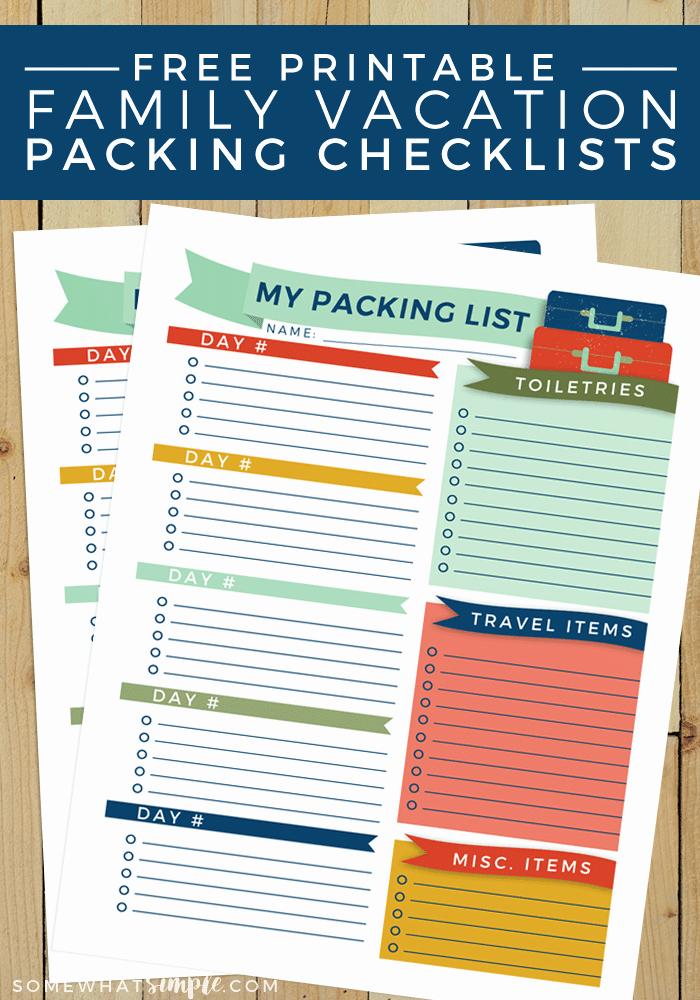 Printable Cruise Packing List Elegant Travel Packing List Free Printable somewhat Simple