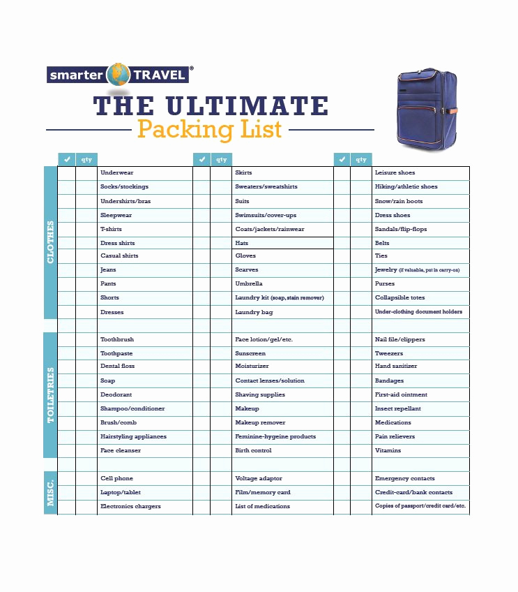 Printable Cruise Packing List Fresh 40 Awesome Printable Packing Lists College Cruise