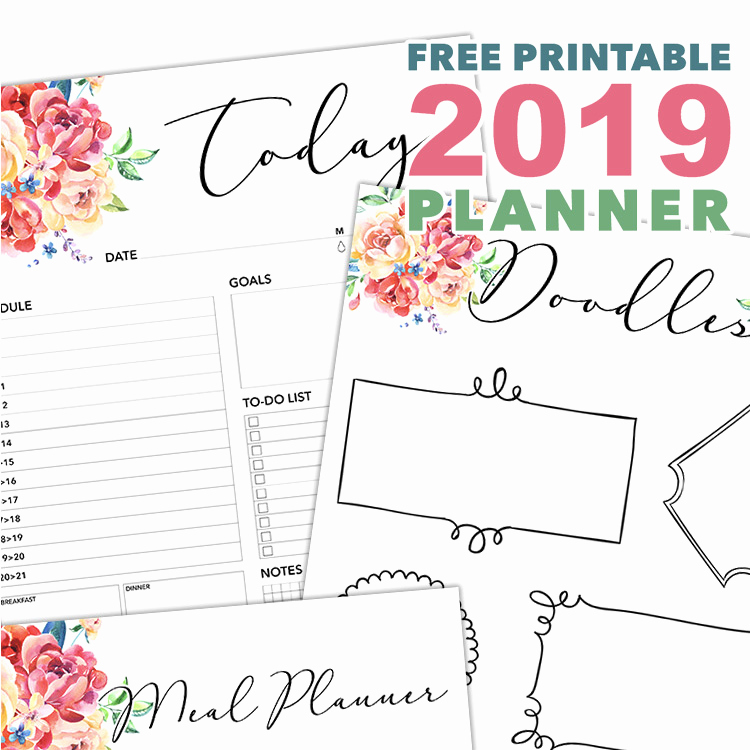Printable Daily Planner 2019 Elegant Free Printable 2019 Planner 50 Plus Printable Pages