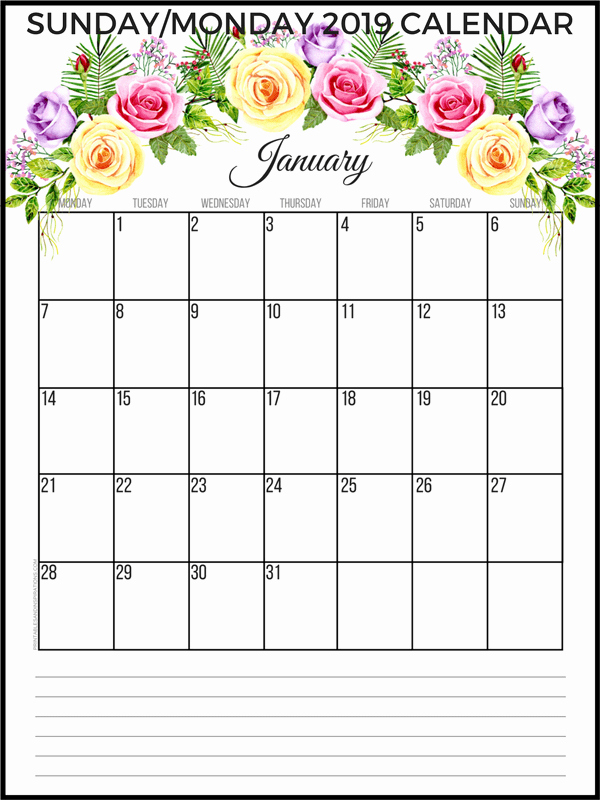 Printable Daily Planner 2019 Unique Free 2019 Planner Printable Pdf with Sunday and Monday
