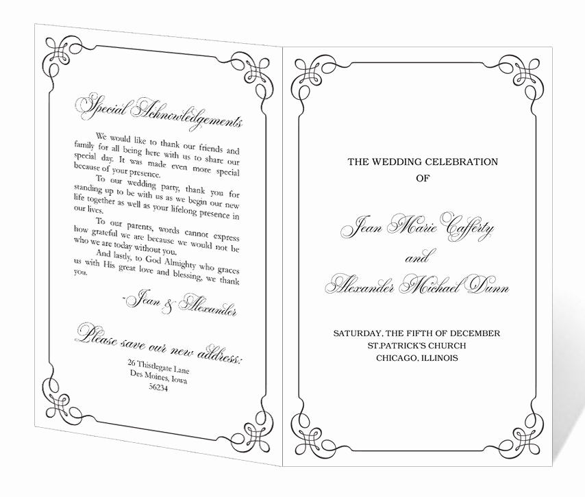 Printable event Program Template Luxury Wedding Program Template Printable Instant Download