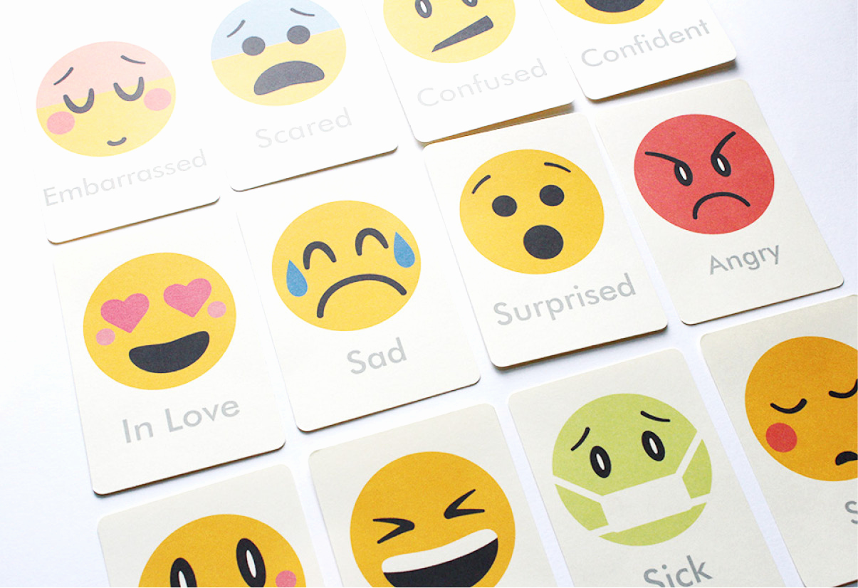 Printable Flash Card Maker Beautiful Emotions Flash Cards