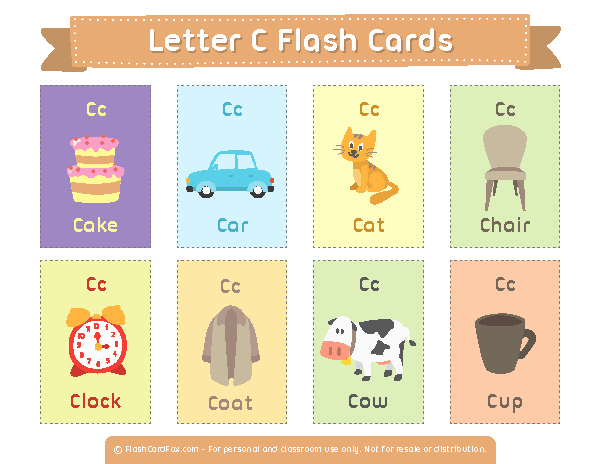 Printable Flash Card Maker Elegant Printable Letter C Flash Cards
