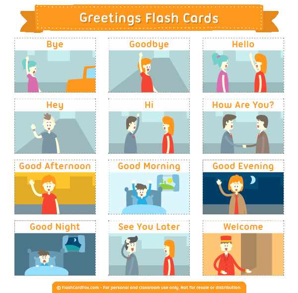 Printable Flash Card Maker Lovely Printable Greetings Flash Cards
