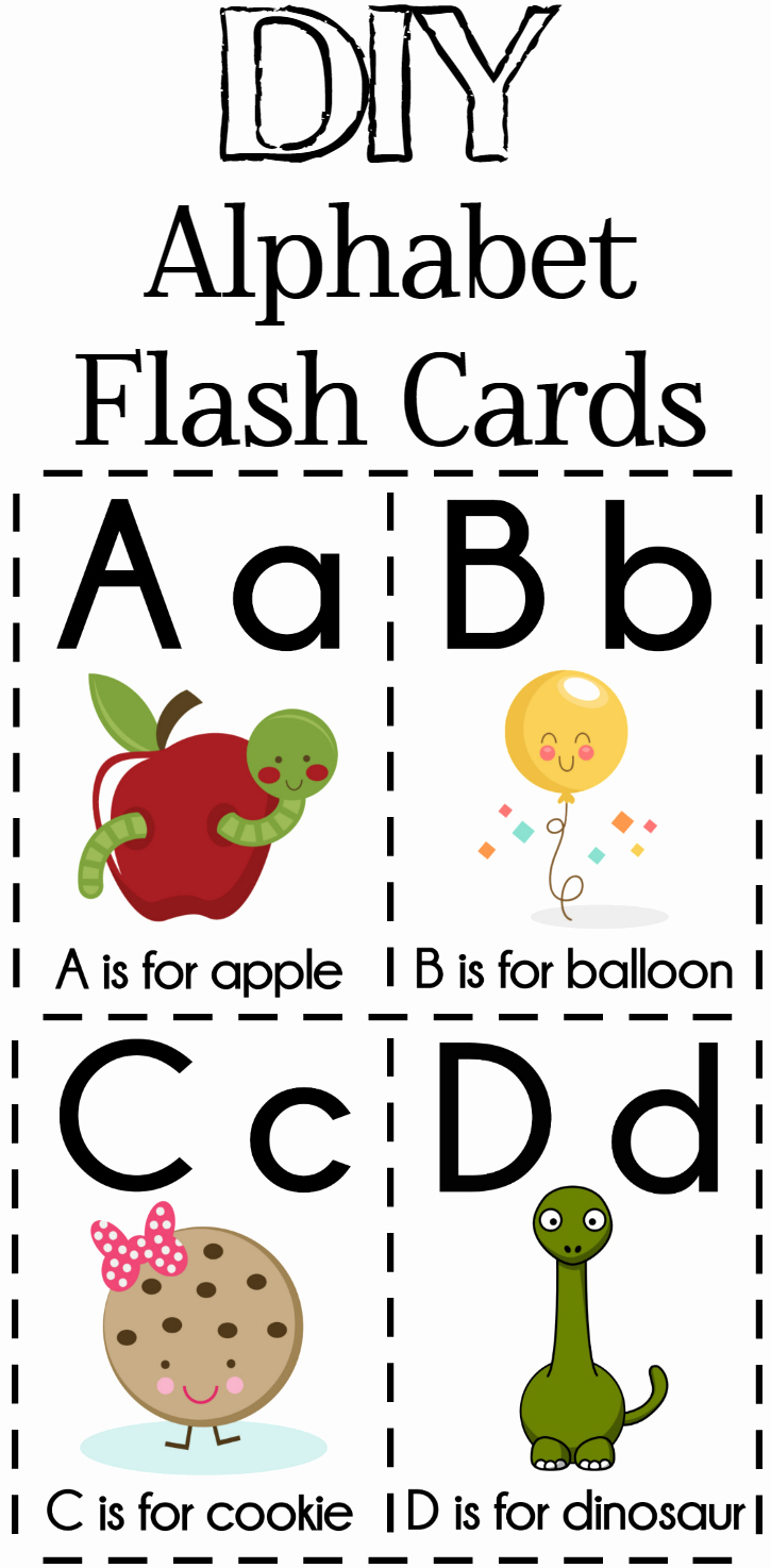Printable Flash Card Maker New Diy Alphabet Flash Cards Free Printable